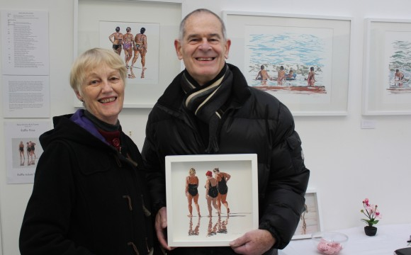 Raffle winner at Wimbledon Art Open Studios