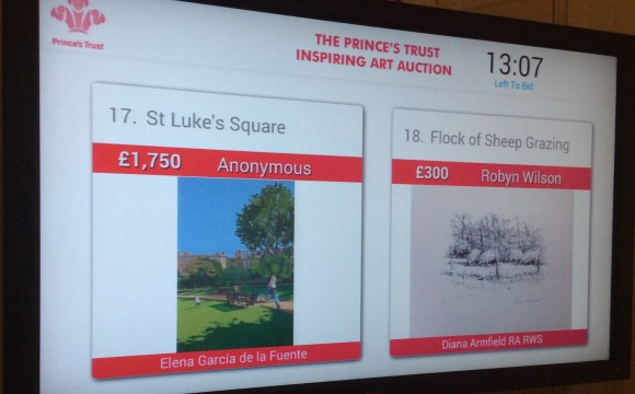 Going, Going, Gone! The Prince's Trust Auction Results