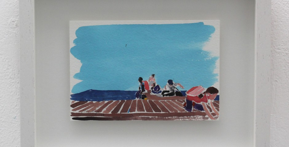 Pretend Seaside Holiday, 20 x 25cm, SOLD