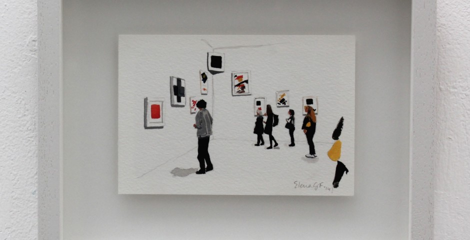 Where is the Black Square?, 20 x 25cm, SOLD