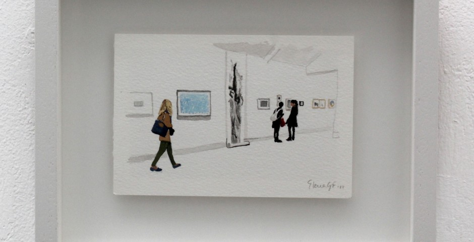 Woman Looks at Blue Drawing, 20 x 25cm, £195