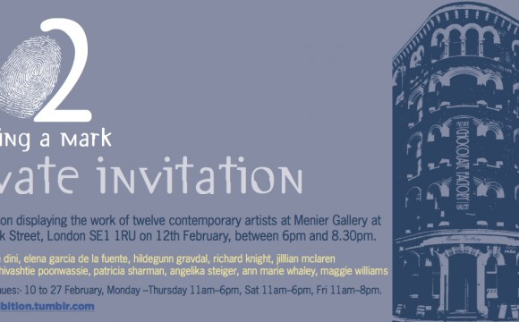'12' Pop Up, PV 12th Feb at Menier Gallery