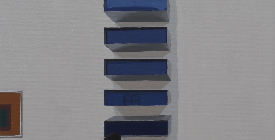 What's at the Top?, 2015, oil on canvas, 40 x 30cm