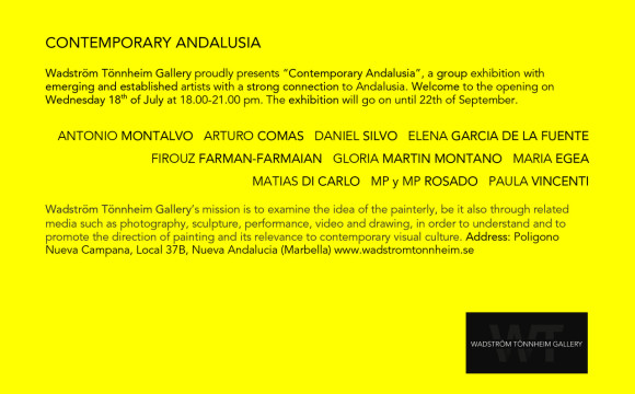 18 July-22 Sept ⎢ Contemporary Andalusia ⎢ Wadström Tönnheim Gallery ⎢ Marbella