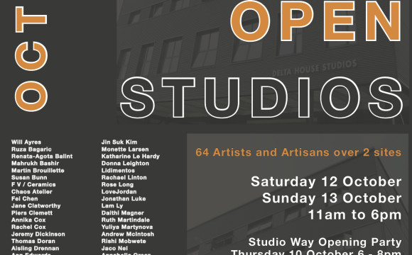 11-13 October | Open studio | Delta House | SW17 0BA